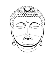 Drawing buddha head vector