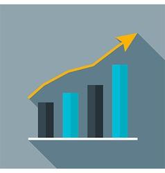 Improve statistic diagram flat stylized vector image