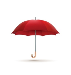 Red umbrella isolated EPS 10 vector image