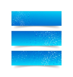 Set of network connection concept banner abstract vector