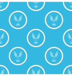 Bird sign blue pattern vector