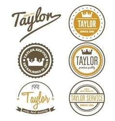 Vintage logo badge emblem or logotype elements vector