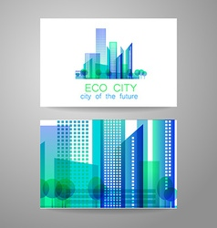 Eco city logo vector