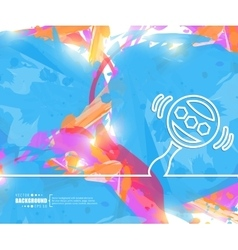 Creative rattle art template vector