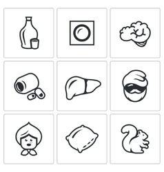 Set of Alcohol Addiction Icons Hooch vector image