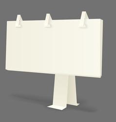 Origami information boards vector image