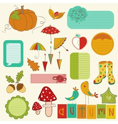 Autumn Cute Elements Set vector image
