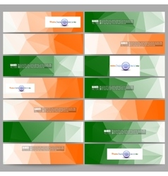 Set of modern banners background for happy indian vector