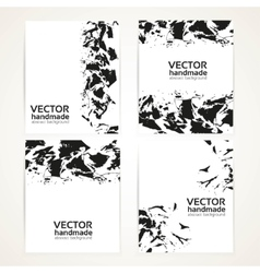 Abstract black and white brush texture on banner vector