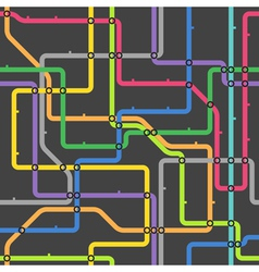 Abstract color metro scheme vector image
