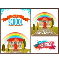Back to school banners and poster set vector