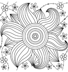 Big flower pattern coloring vector image vector image