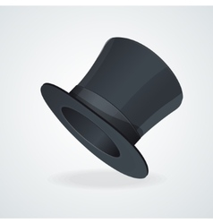 Black top hat on white vector image vector image