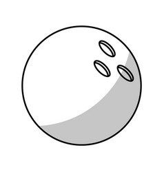 bowling ball equipment - shadow vector image vector image