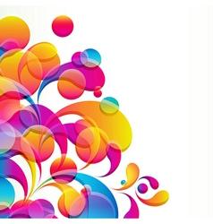 bright circles vector image vector image
