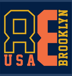 brooklyn usa vector image