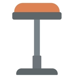 Brown bar stool vector image vector image