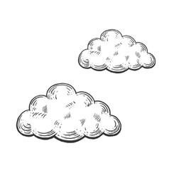 Cloud engraving style vector image vector image