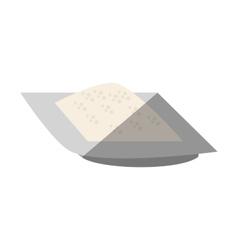Flour dish ingredient cook shadow vector