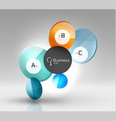 Glass circle infographics vector