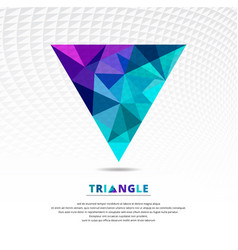 green blue and purple color abstract low poly vector image