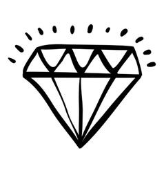 Isolated diamond draw design vector image