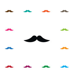 Isolated moustache icon barber element can vector
