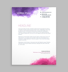 Letterhead design in paint style vector