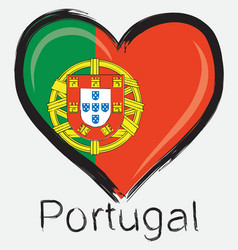love Portugal flag vector image