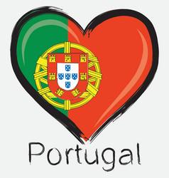 love Portugal flag vector image