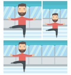 Male figure skater vector image vector image