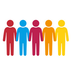 Person group think people vector
