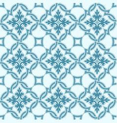 Portuguese tiles quatrefoil pattern vector