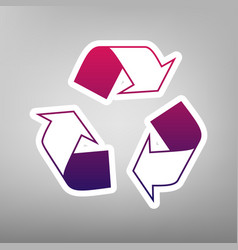Recycle logo concept purple gradient icon vector