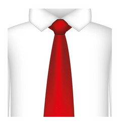 Red tie with shirt icon vector
