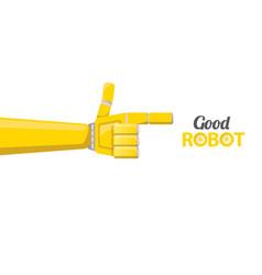 robotic arm symbol robot hand vector image