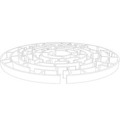 Round tangled maze vector