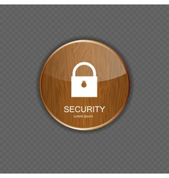 Security wood application icons vector image vector image