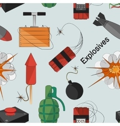 Set of bombs Explosives pattern vector image vector image