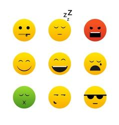Smiles collection vector