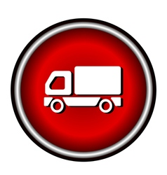 Truck Icon on white background vector image