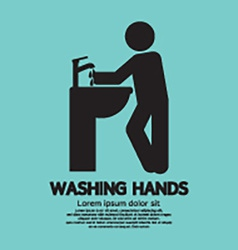 Washing Hands Black Graphic Symbol vector image