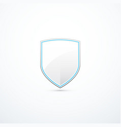 white and blue shield vector image vector image