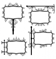 Wrought iron signs vector