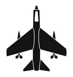 Armed fighter jet icon simple style vector