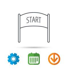 Start banner icon marathon checkpoint sign vector