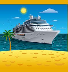 cruise resort vector image