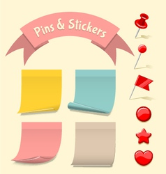 Pins and stickers vector