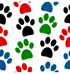 Paw seamless pattern vector