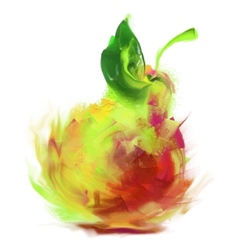 Drawing pear vector